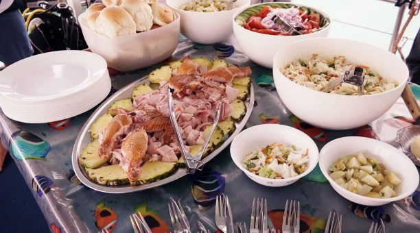 Enjoy meals prepared onboard with fresh ingredients