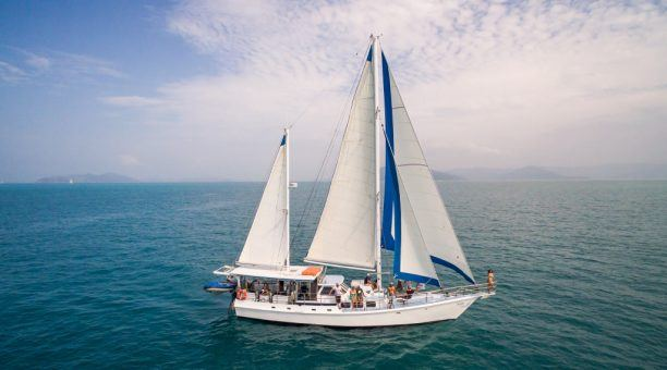Enjoy a mix of shaded and opn deck areas while you cruise the Whitsundays.