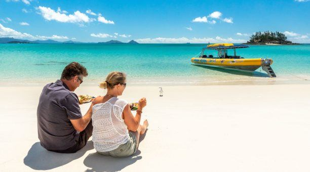 Enjoy the Tropical Buffet Lunch on Whitehaven Beach
