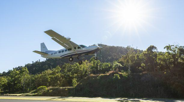 Take off from the Exclusive Whitsunday Airport